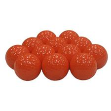 Blank Orange Colored Golf Balls