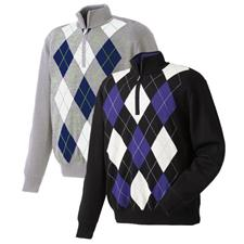 FootJoy Men's Performance Lined Half-Zip Argyle Sweater