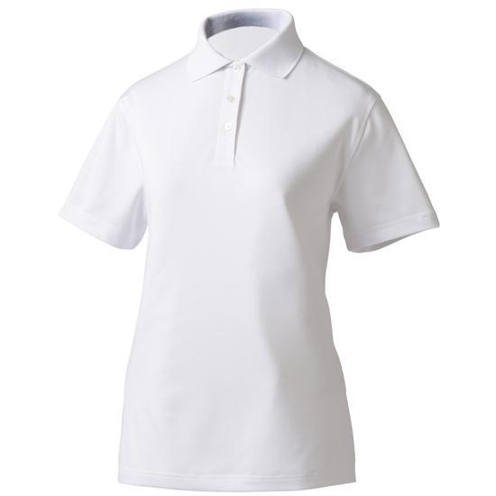 Footjoy custom logo stretch pique shirt for women white for Footjoy shirts with titleist logo
