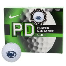 Nike Power Distance Soft Collegiate Personalized Golf Balls - Penn State Nittanty Lions