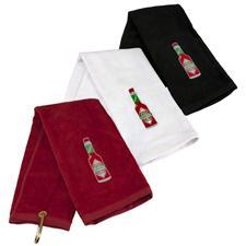 TABASCO Brand Bottle Design Golf Towel