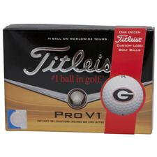 Titleist Georgia Bulldogs Pro V1 Collegiate Golf Balls