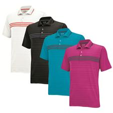 Adidas Men's Puremotion ClimaCool 3-Stripes Chest Polo