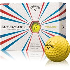 Callaway Golf Custom Logo Supersoft Yellow Golf Ball