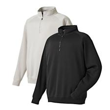 FootJoy Men's Flat Back Rib Half-Zip Mid Layer Pullover