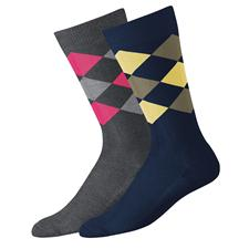 FootJoy Men's Limited Edition Fashion Argyle Crew Socks