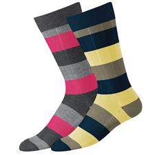 FootJoy Men's Limited Edition Fashion Block Stripe Crew Socks