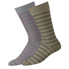 FootJoy Men's Limited Edition Fashion Pencil Stripe Crew Socks