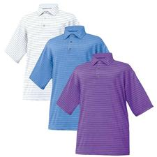 FootJoy Men's Pencil Stripe Stretch Lisle Self Collar Shirt