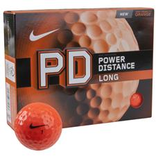 Nike Power Distance Long Orange Logo Golf Balls