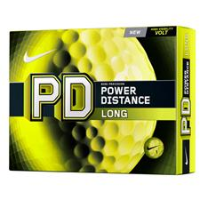 Nike Custom Logo Power Distance Long Volt Yellow Golf Balls - 2014