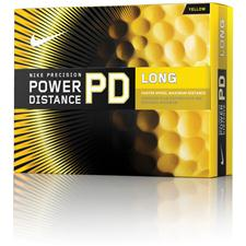 Nike Custom Logo Power Distance Long Yellow Golf Balls