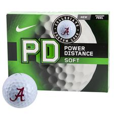 Nike Power Distance Soft Collegiate Personalized Golf Balls - Alabama Crimson Tide