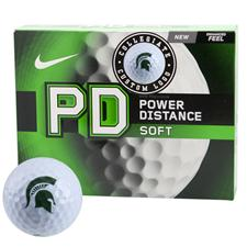 Nike Power Distance Soft Collegiate Golf Balls - Michigan State Spartans