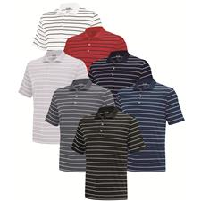 Adidas Custom Logo PureMotion 2-Color Stripe Jersey Polo