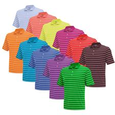 Adidas Custom Logo PureMotion 2-Color Stripe Fashion Jersey Polo