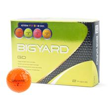 BigYard Orange GD 2 Piece Orange Golf Balls