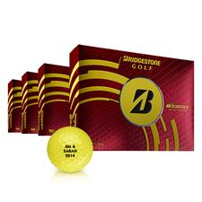 Bridgestone B330-RX Yellow Personalized Golf Balls - Buy 3DZ Get 1DZ Free