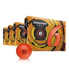 Bridgestone e6 Orange Personalized Golf Balls - Buy 3DZ Get 1DZ Free