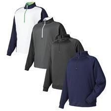 FootJoy Men's Performance Half-Zip Long Sleeve Logo Pullover