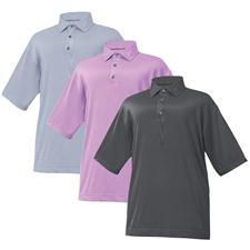 FootJoy Men's Stretch Lisle Mini Stripe Self Collar Shirt