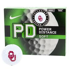 Nike Power Distance Soft Collegiate Personalized Golf Balls - Oklahoma Sooners