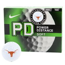 Nike Texas Longhorns Power Distance Soft Collegiate Golf Balls