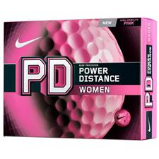 Nike Power Distance Women Pink Logo Golf Balls