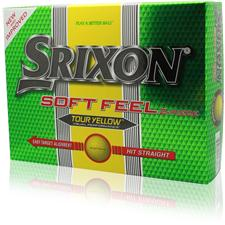 Srixon Custom Logo Soft Feel Tour Yellow Golf Ball