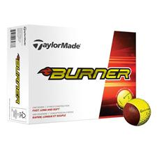 Taylor Made Custom Logo Burner Yellow Golf Balls