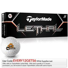 Taylor Made Custom Logo Lethal Golf Balls