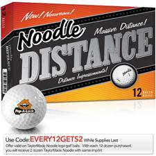 Taylor Made Noodle Distance Logo Golf Balls