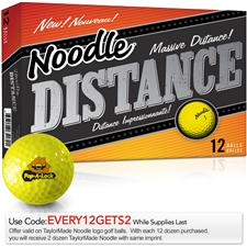 Taylor Made Custom Logo Noodle Distance Yellow Golf Balls