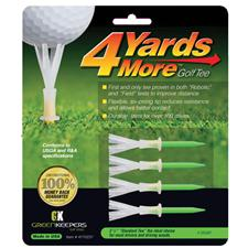 4 Yards More 4 Inch Green Golf Tees 4 CT
