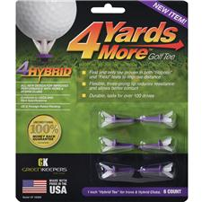 4 Yards More Hybrid Purple Golf Tees 6 CT