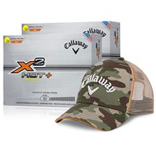Callaway Golf - X2 Hot+ Yellow Double Dozen with Free Camo Hat Bring the  heat ... 21150c7993d4