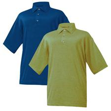 FootJoy Men's End on End Stripe Stretch Lisle Self Collar Shirt