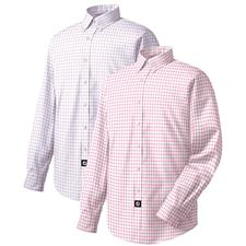 FootJoy Men's Performance Woven Windowpane Long Sleeve Shirt