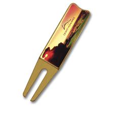 Logo Golf Custom Logo Bent Divot Tool w/ Color Magic Logo