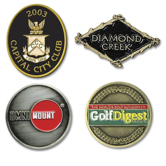 Logo Golf Die Struck Ball Marker