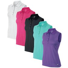 Nike Custom Logo Tech Sleeveless Stripe Polo for Women