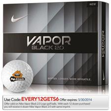 Nike Custom Logo Vapor Black 2.0 Golf Balls - 2014