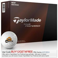 Taylor Made Custom Logo Tour Preferred Golf Balls