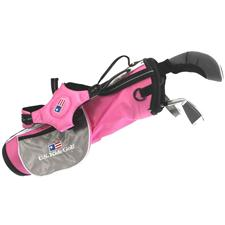 U.S. Kids Ultralight 39 In. 3-Club Pink Stand Bag Junior Set