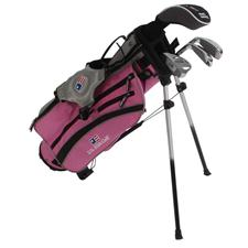 U.S. Kids Ultralight 42 In. 4-Club Pink Stand Bag Junior Set