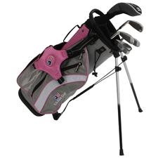 U.S. Kids Ultralight 48 In. 5-Club Pink Stand Bag Junior Set