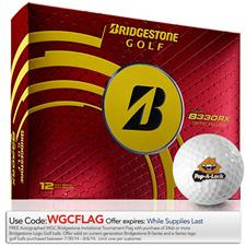 Bridgestone Custom Logo Tour B330-RX Yellow Golf Balls - 2014
