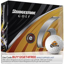 Bridgestone Custom Logo e6 Golf Balls - Prior Generation