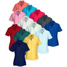 Greg Norman Custom Logo Core Performance Micro Pique Logo Polo for Women