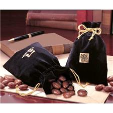 Velour Gift Bag - Milk Chocolate Covered Almonds